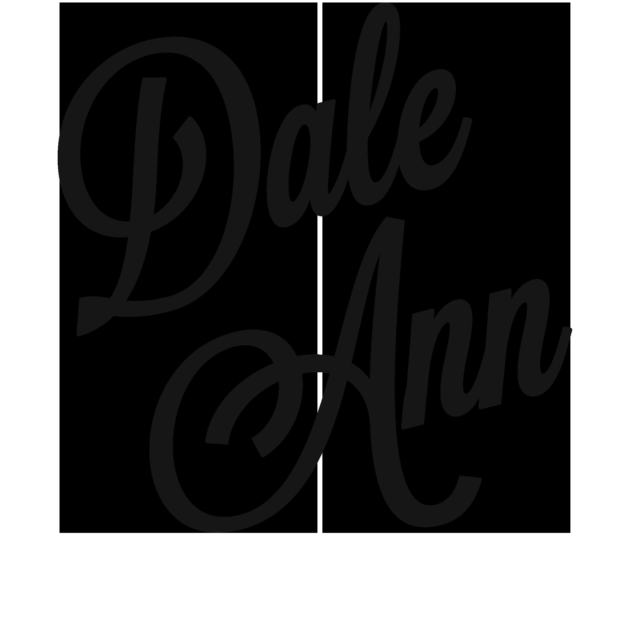 dale ann logo - white