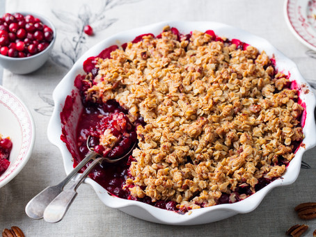 OATMEAL & CRANBERRY CRUMBLE