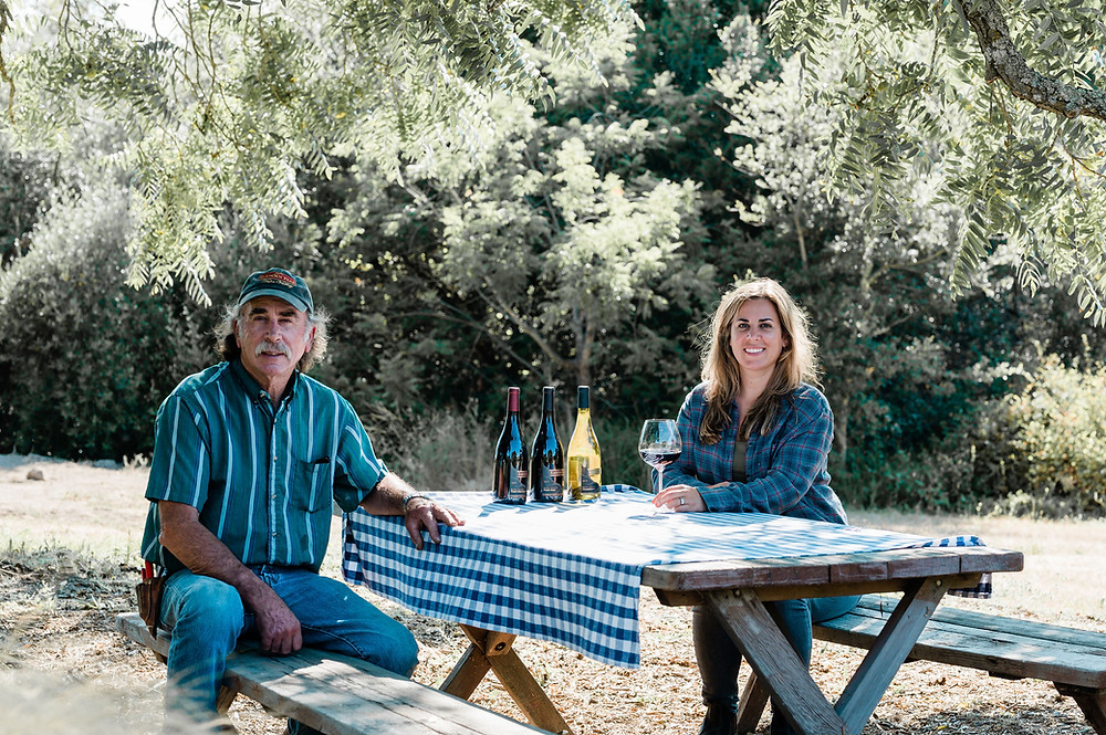 Ken and Elise, owners of Elkhorn Peak Cellars. Photos courtesy of Lyda Studios.