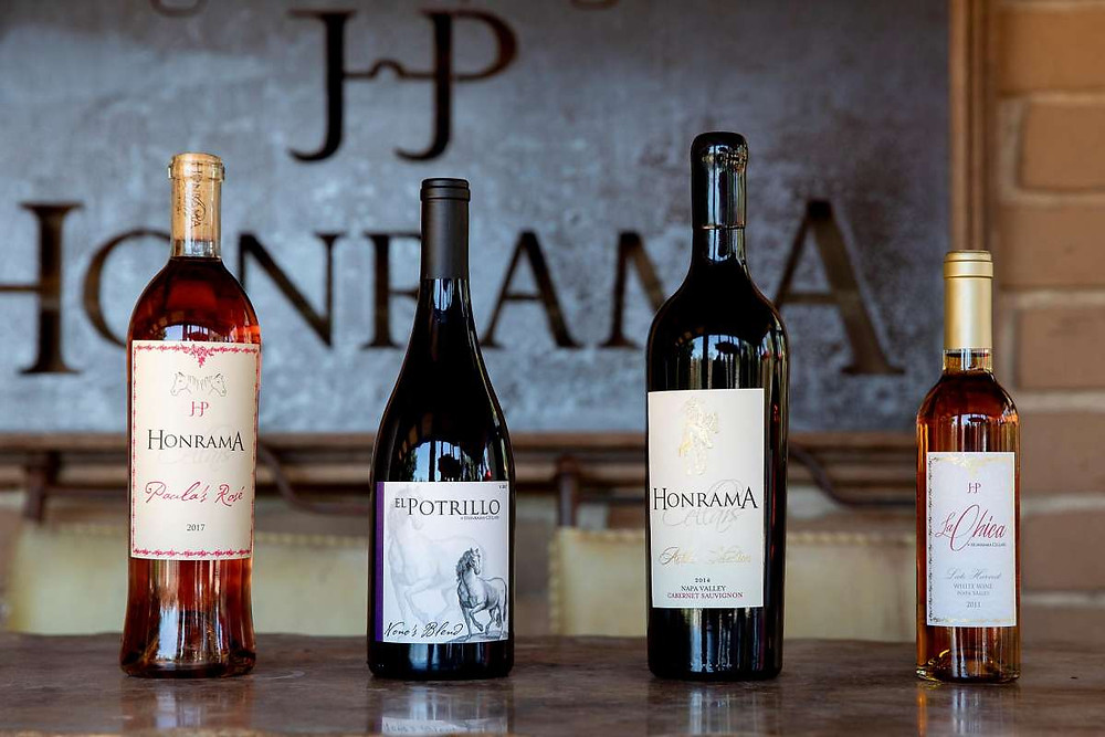 A selection of Honrama Cellars wines includes rose, Pinot Noir, Cabernet Sauvignon and late-harvest Chardonnay.  | Jessica Christian / The Chronicle