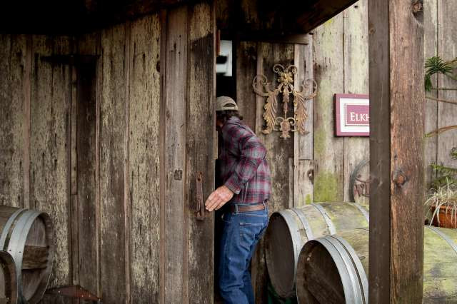Ken Nerlove bought his property in south Napa County in 1983. Initially he sold his grapes to other wineries, but later he began making his own wine label, Elkhorn Peak. Photo: Jessica Christian / The Chronicle