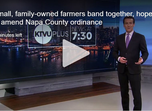 Small, family-owned farmers band together, hope to amend Napa County ordinance
