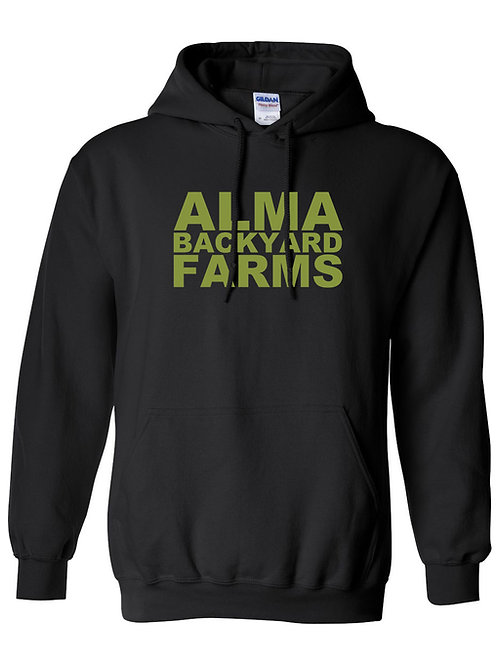Black Hoodie with Green Logo