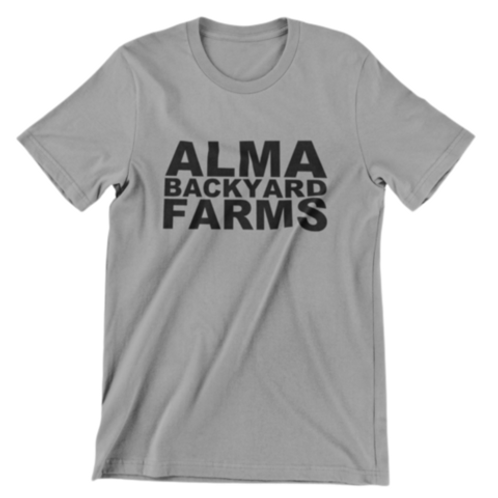 Grey T-shirt with Black Logo