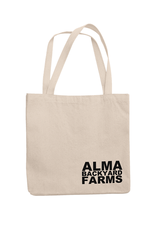 Canvas Tote with Black Logo