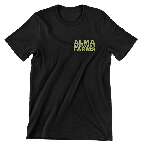 Black T-Shirt with Small Green Logo