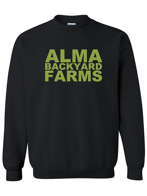 Black Sweatshirt with Green Logo