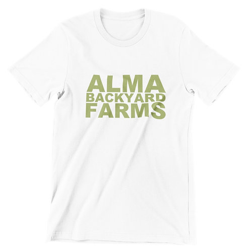 White T-Shirt with Green Logo