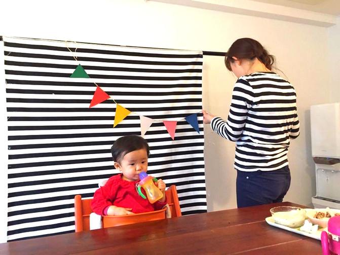 1歳さんのおうち撮影