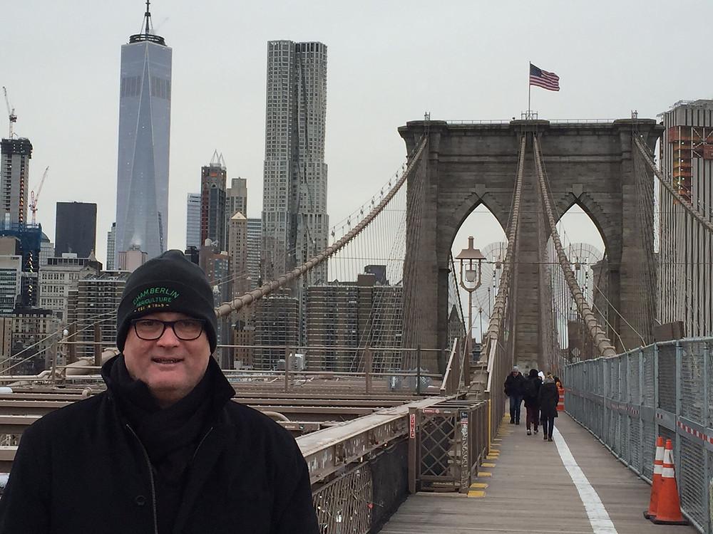 Chamberlin at the Brooklyn Bridge