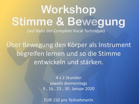 Neues Workshop-Format 💫  Stimme & Bewegung