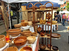 Display for Firewood Creations at street fair.
