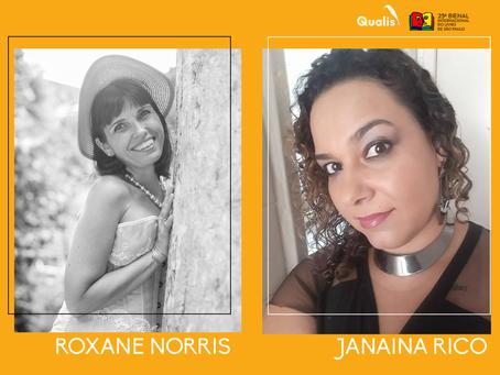 Roxane Norris e Janaina Rico estão confirmadas na Bienal de São Paulo