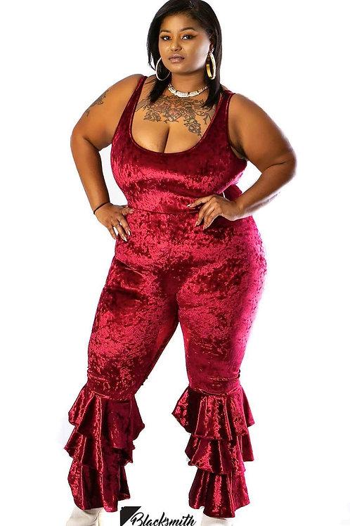 Lady V Velvet Jumpsuit