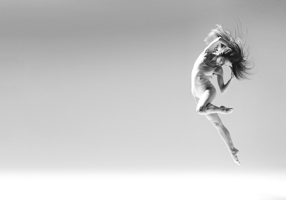 Ballet Dancer in Mid-Air