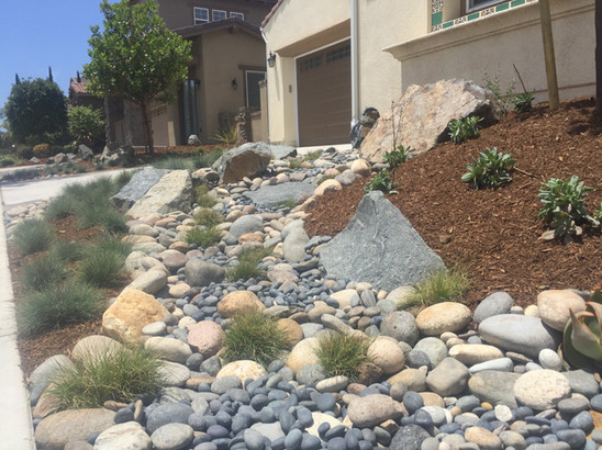 Riverbed Rock Feature Design