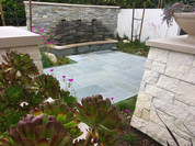 Blue Stone Patio Design
