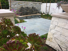 Blue Stone Patio Design