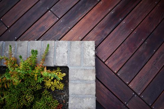 IPE Wood, High End Brick Planter