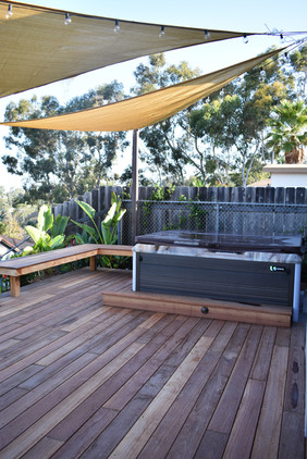 Custom Deck Around Hot Tub, Spa, Jacuzzi