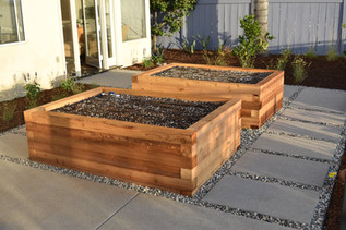 Cedar Vegetable Beds in San Diego