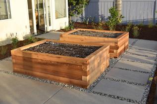 Cedar Vegetable Beds in San Diego