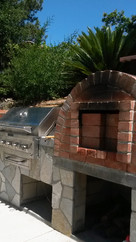 Pizza Over with Built in BBQ