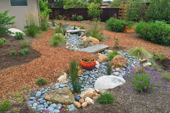 Drought Resistant Design with Vegetable Garden