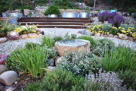 Fountain with Herb Garden