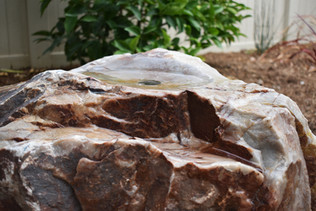 Cored Boulder Fountain