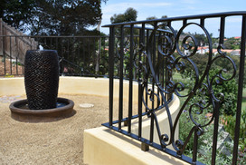 custom wrought iron fence