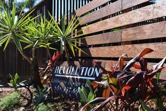 Revolution Landscape Sign