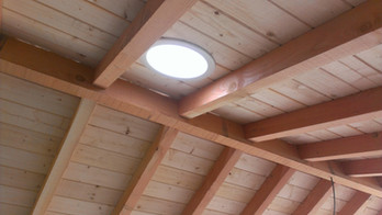 Skylight in Pergola