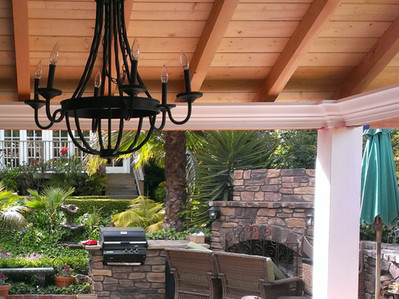 Pergola with Build in BBQ and Fireplace