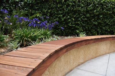 Wood Wall Bench