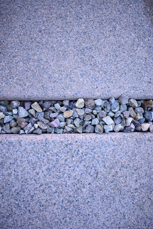 Colored Concrete with Gravel Infill
