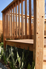 Cedar Deck Railing Idea