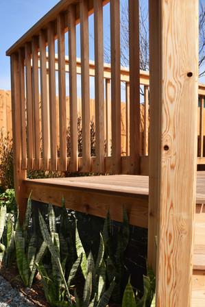 Cedar Deck Railing Idea
