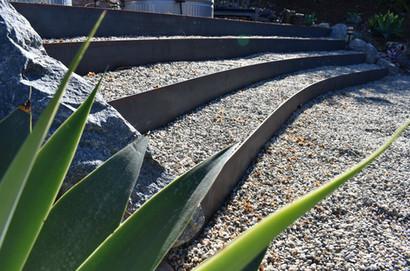 Natural gravel steps