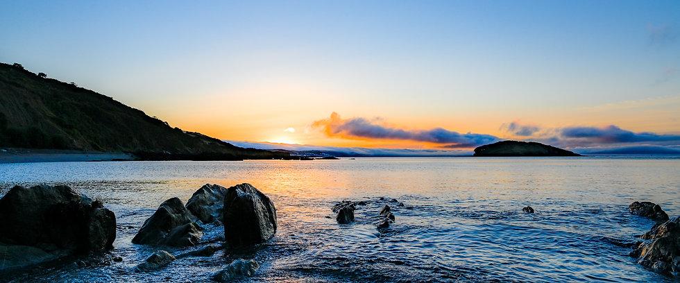 Looe Island at Sunrise - Panorama