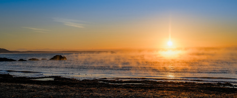 Looe beach at sunrise - Panorama