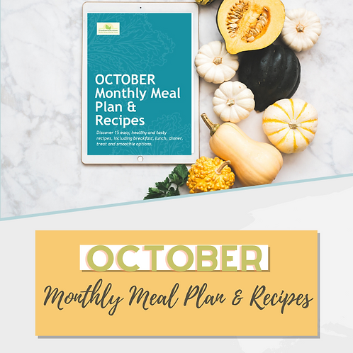 October 2020 Monthly Meal Plan & Recipes