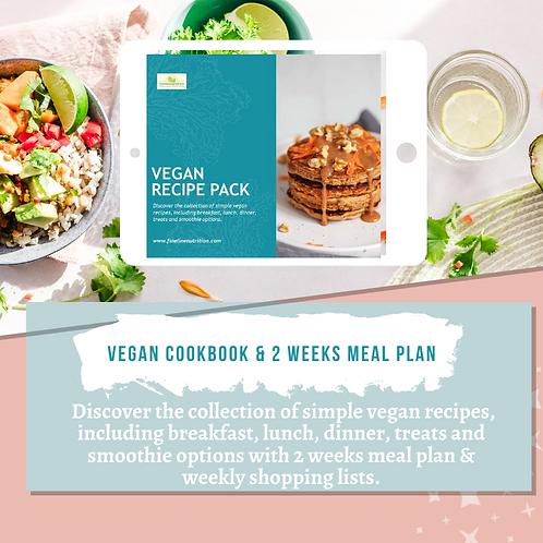 Vegan Cookbook & 2 Weeks Meal Plan