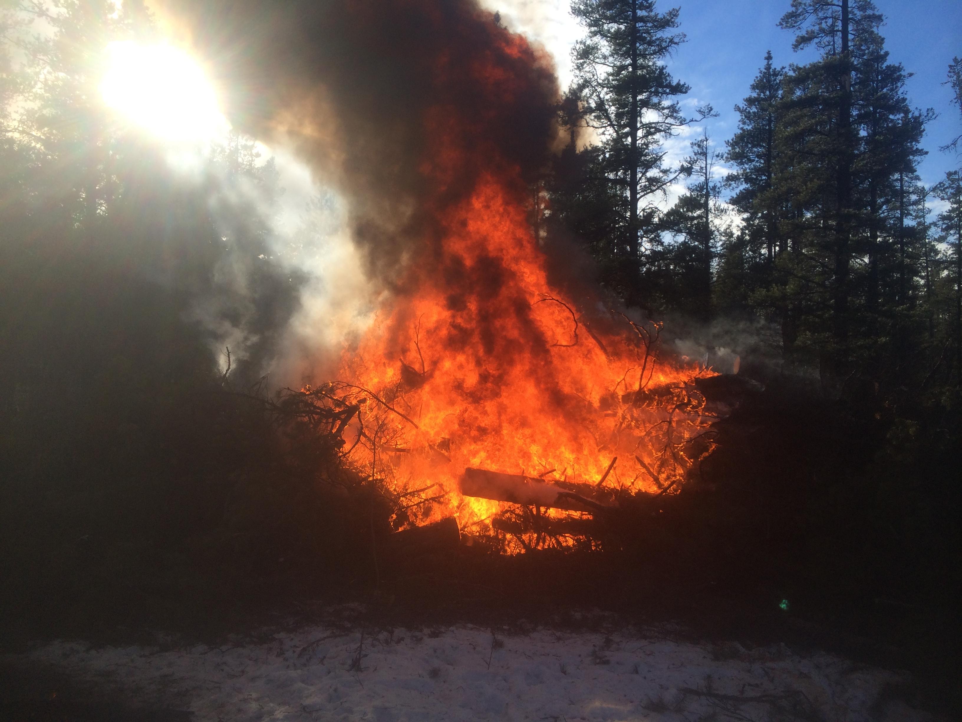 Heli fall and burn