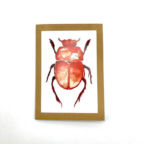 Red Beetle Greeting Card