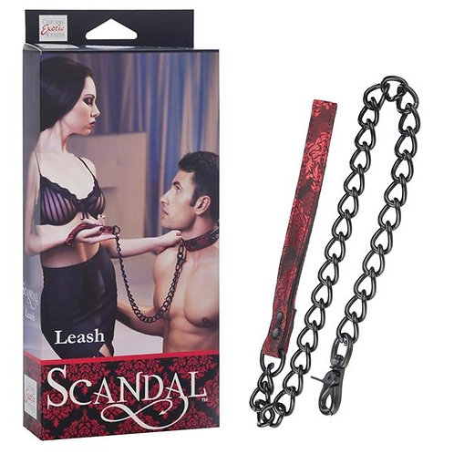 Scandal Leash Black Red