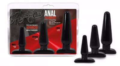 Anal Trainer Kit 3 Sizes Butt Plugs