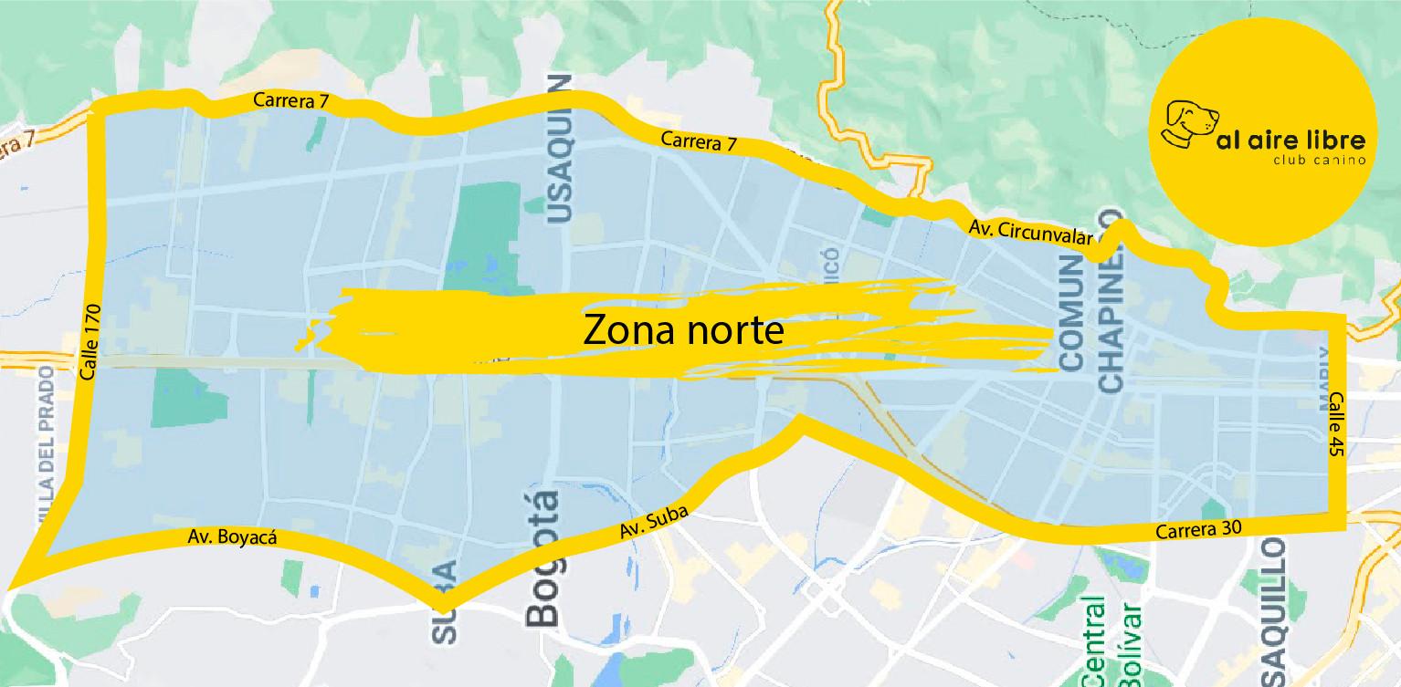 Zona de cobertura norte