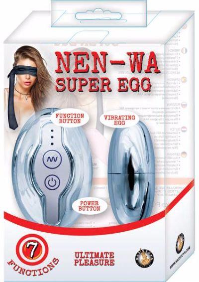 Nen Wa Remote Control Super Egg Waterproof Silver