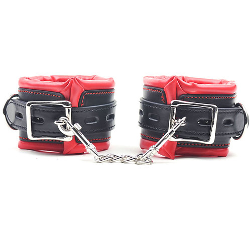 Red and Black Handcuffs